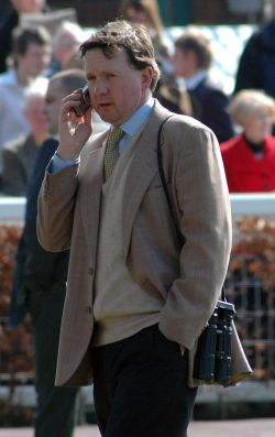 Tim Easterby at Ripon Races, Apr 2005, click for a larger image